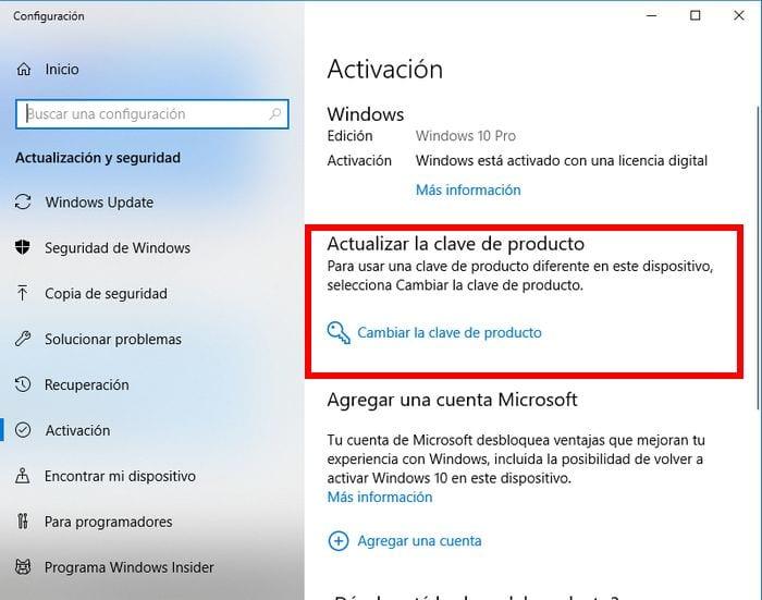 activando windows 10