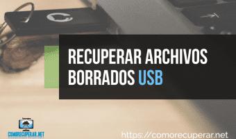 Como recuperar archivos USB (Pendrive)